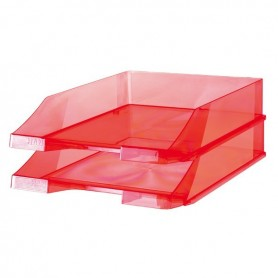 Corbeille Courrier - 1026 - Crystal Rouge - Han