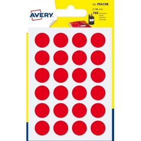 168 Pastilles Rouge 15mm - Avery