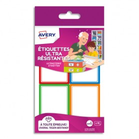 16 Etiquettes Ultra Resistantes 44x64mm - Avery
