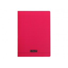 Calligraphe 8000 - Cahier polypro - A4 (21x29,7 cm) - 96 pages - grands carreaux (Seyes) - rouge