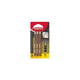Maped Black'Peps  3 Mini Crayons   Graphite