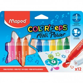 Maped Color'Peps  - 12 crayons de couleurs  - pointe extra large