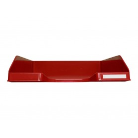 Exacompta COMBO Glossy - Corbeille à courrier rouge carmin